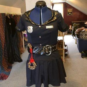 Cop 👮 sexy costume small leopard cuffs